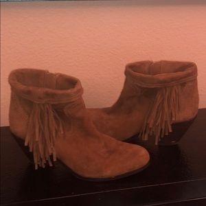 Preowned Sam Edelman Louie fringe booties